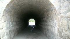 A Tunnel Made Of Bricks Stock Footage