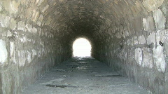A Tunnel Under The Train Trax made of Bricks Stock Footage