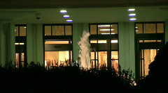 Fountain Shoots up in front of the Draper Mormon Temple 1 Stock Footage