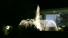 Fountain Shoots up in front of the Draper Mormon Temple 2 Stock Footage