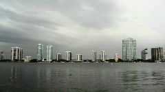 Storm brewing over Miami Stock Footage