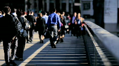 People Commuting to Work Stock Footage