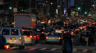 Stock Video Footage of Traffic Jam, New York City Street
