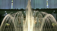 Fountain Shoots up in front of the Draper Mormon Temple 5 Stock Footage