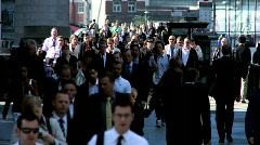 Streets of Busy Commuters - stock footage