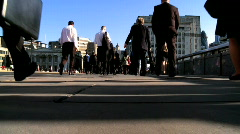 People Walking to Work Stock Footage