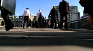 Stock Video Footage of People Walking to Work