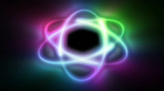 Atom color shine, seamless loop Stock Footage