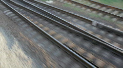 Railroad track (Full HD) Stock Footage