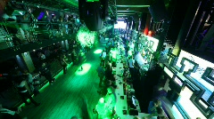 Opening of night club Look in Rooms, Moscow, Russia. Stock Footage