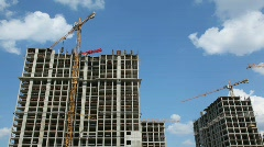 Stock Video Footage of Building of high-rise, modern buildings.