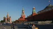 Stock Video Footage of Tourists on Red Square.