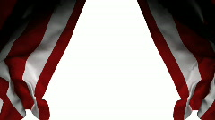 Circus curtain opens. Comes with Alpha. Stock Footage