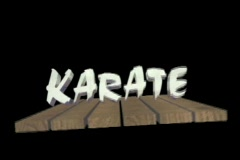 0925 Karate Opening boards break Stock Footage