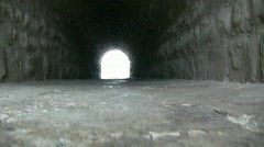 Tunnel Under The Train Trax Made With Bricks Stock Footage