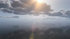Flight from the sea to the clouds Stock Footage
