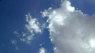View blue sky with clouds underwater with dead leaf Stock Footage