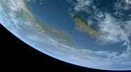 Stattionary Orbit over Africa and Madagascar CG Earth 1080p Stock Footage