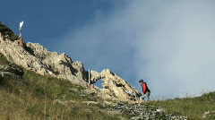 Man mountain climbing Stock Footage