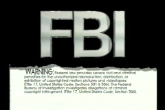0907 FBI Warning - stock footage