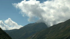 mountains with clouds - stock footage