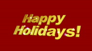 Stock Video Footage of Happy Holidays