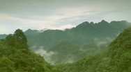 Clouds timelapse in mountains Stock Footage