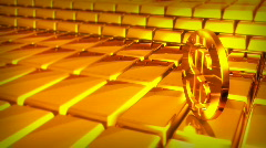 GOLDEN BARS Stock Footage