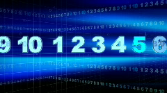 NUMBERS and COUNTDOWN Stock Footage