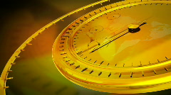 Gold Clock Stock Footage
