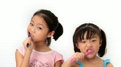 Brushing teeth Stock Footage
