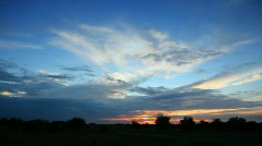 time lapse of running clouds. - stock footage