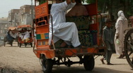 Stock Video Footage of Travelling on Rickshaws in Pakistan