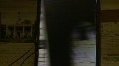 Microfilm high-speed scan, medium shot Stock Footage