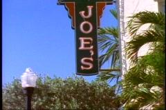 Joe's Stone Crab sign, , tilt up, medium close up Stock Footage