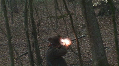 Flintlock Muzzleloader Shooting - stock footage