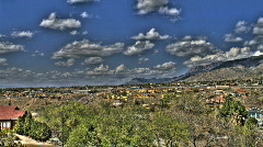 HDR Rolling Clouds - stock footage