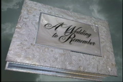 1601L A Wedding to Remember-Book Opening Stock Footage