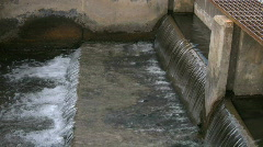 Concrete Waterway Stock Footage