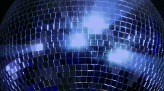 Blue loop disco mirror ball series - center glitter Stock Footage