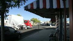 Barber pole, traffic Stock Footage