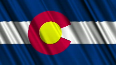Colorado Flag Loop 01 - stock footage