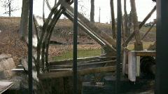 Water Wheel Profile Stock Footage