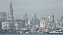 San Francisco Downtown with Chevron tanker 01 Stock Footage