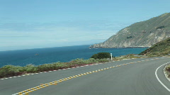 Pacific Coast Highway, Big Sur, California - stock footage