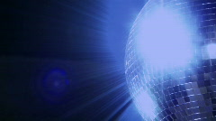 Blue loop disco mirror ball series - right side Stock Footage