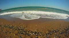 Foamy waves Stock Footage