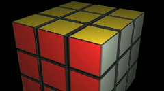 t205 rubix cube 80s game puzzle - stock footage