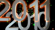 2010  Changes To  2011 In Space Stock Footage