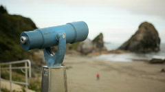 Coin Operated Binoculars-HD Stock Footage